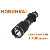 Светодиодный фонарь Armytek Doberman XHP35 HI  холодный белый свет (1700 LED лм, 1х18650/2xCR123)