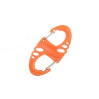 Карабин пластиковый S - образный оранжевый