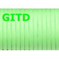 Флуоресцентный (светящийся в темноте) паракорд, GITD paracord светло-зеленый