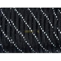 Паракорд со светоотражающей нитью (reflective) - черный