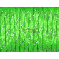 Паракорд со светоотражающей нитью (reflective) - зеленый неон
