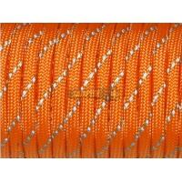 Паракорд со светоотражающей нитью (reflective) - оранжевый неон