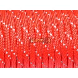 Паракорд со светоотражающей нитью (reflective) - красный