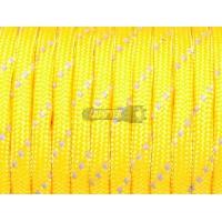 Паракорд со светоотражающей нитью (reflective) - желтый неон