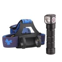 Налобный светодиодный фонарь Skilhunt H03 NW 900 ANSI люмен, 1x18650, 2xCR123