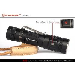 Светодиодный фонарь Sunwayman C20C Tomahawk XM-L2 450+ ANSI люмен, 1x186500/2xCR123