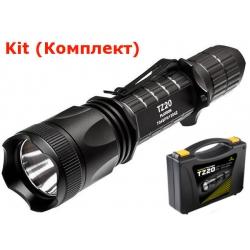 Светодиодный фонарь XTAR TZ20 Platoon (840 ANSI люмен,1x18650) Комплект: + АКБ, ЗУ, вынос. кнопка