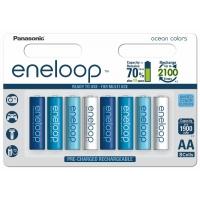 Аккумулятор Panasonic Eneloop 2000 mAh AA BK-3MCCE/4BE Ocean Colors  8 штук