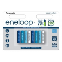 Аккумулятор Panasonic Eneloop 800 mAh AAA BK-4MCCE/4BE Ocean Colors 8 штук в блистере