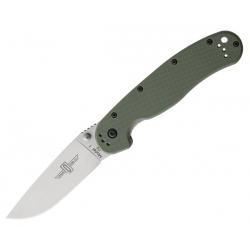 Складной нож Ontario RAT-1 8867OD Plain / рукоять олива / Сталь D2
