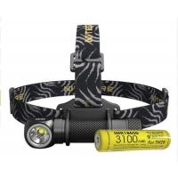 Налобный светодиодный фонарь Nitecore HC33+ АКБ IMR18650 3100mAh (1800 ANSI люмен, 1x18650, 2xCR123)