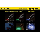 Светодиодный фонарь Nitecore SRT7 Revenger, 960 ANSI люмен, 1x18650/2xCR123