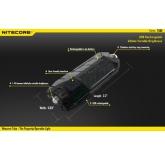 Светодиодный фонарь-брелок  Nitecore Tube, 45 ANSI люмен